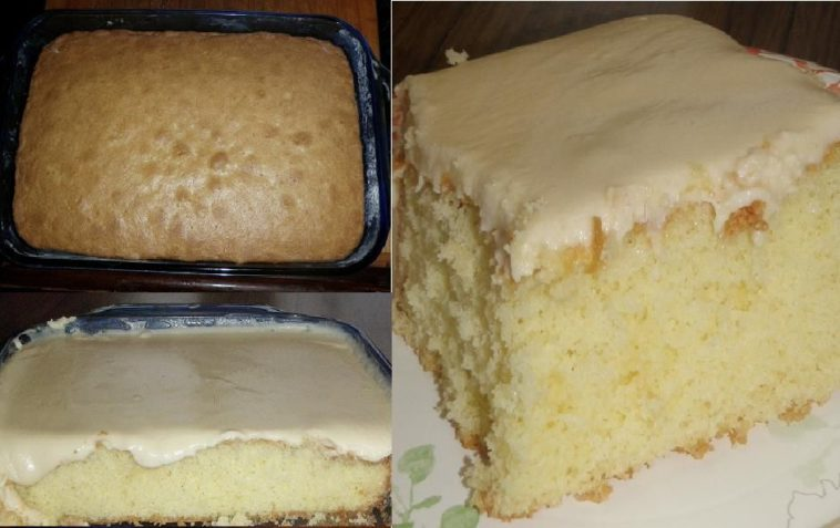 GRANNY'S OLD FASHIONED BUTTER CAKE WITH BUTTER CREAM FROSTING cake